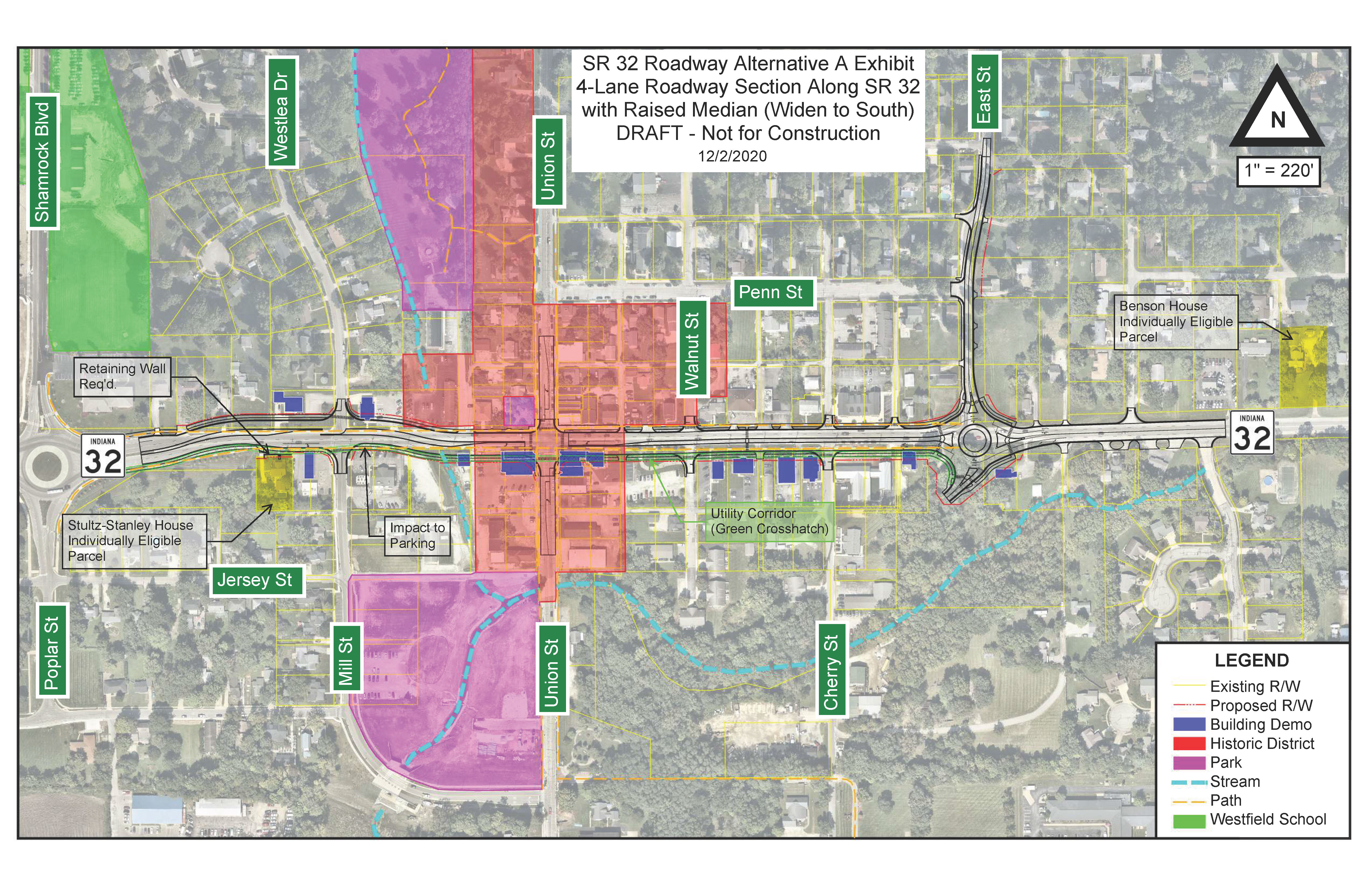 Photo for: NEWS RELEASE: Preferred Route Announced for State Road 32 in Downtown Westfield